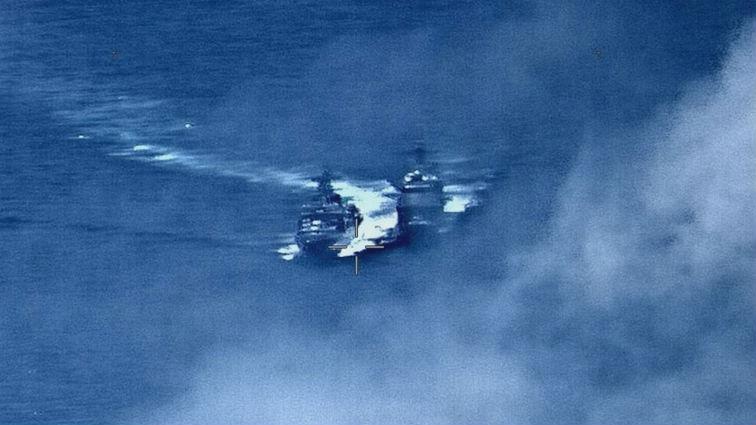 最近距離僅50米!俄美就軍艦險些相撞大打口水戰