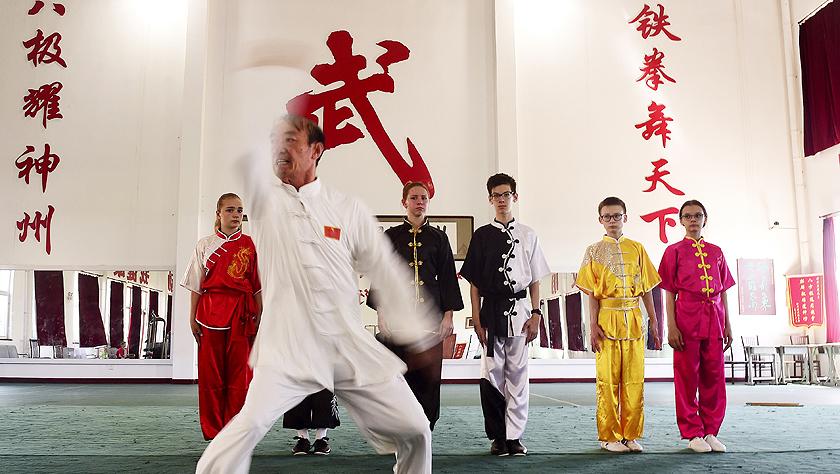 """在中国""""武术之乡"""",有一群俄罗斯少年学功夫"""