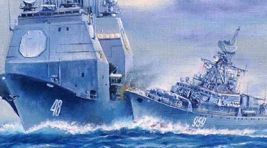 海上拼刺刀!苏军战舰31年前曾撞击美舰