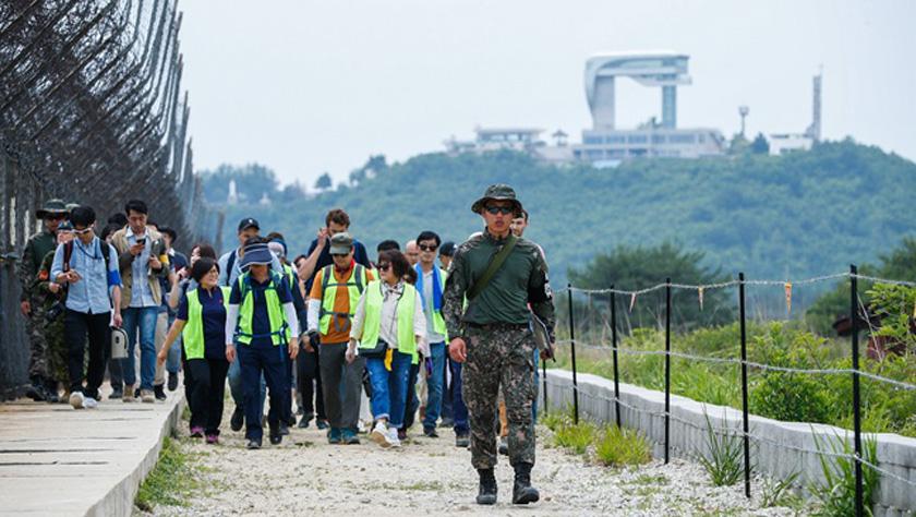 """探訪韓朝邊境""""非軍事區和平之路"""""""