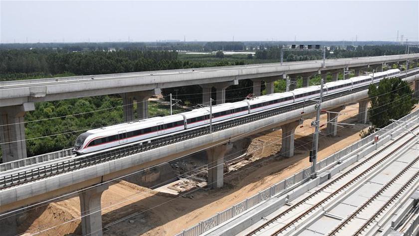 北京轨道交通新机场线一期开始试运行