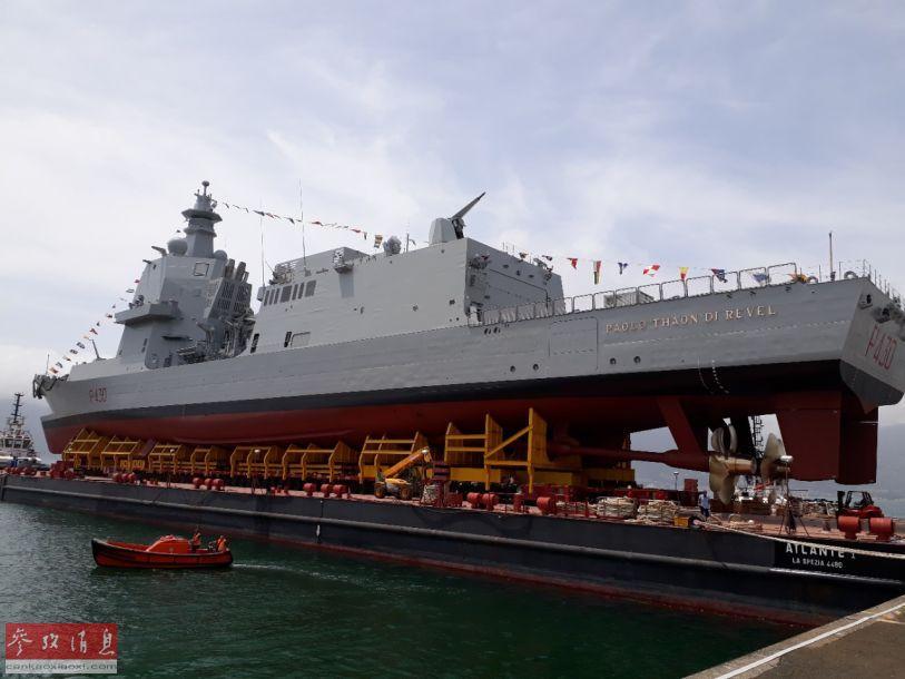 "PPA基本型护卫舰的火力配置包括舰艏的一门127毫米""火山""舰炮,舰艉机库上方的一门具备拦截反舰导弹能力的76毫米DAVIDE隐身舰炮以及2门25毫米速射近防炮。完全版还包括""席尔瓦""垂发导弹单元和反舰导弹发射器。"