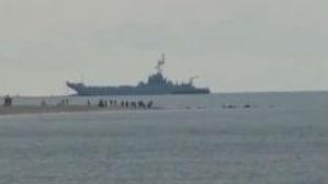 波兰登陆舰参加北约联演遭遇事故 船体穿孔进水