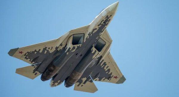 俄军苏-57隐身战机试飞资料图。