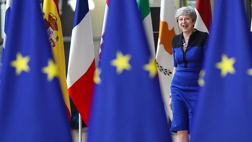 特雷莎·梅亮相欧盟夏季峰会