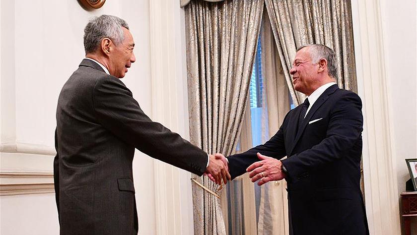 约旦国王阿卜杜拉二世访问新加坡