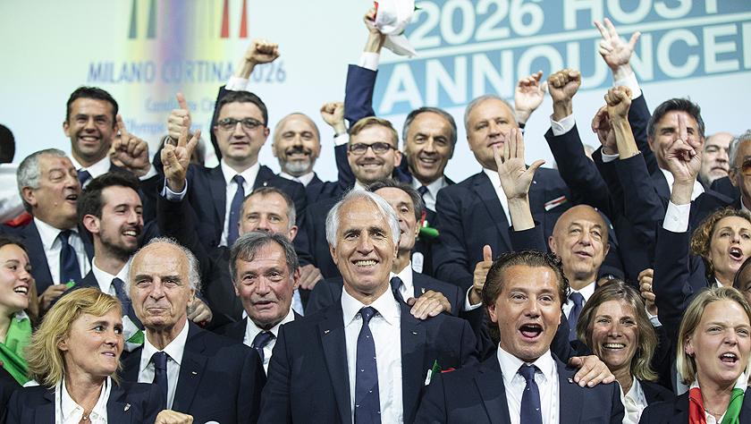 意大利城市米蘭與科爾蒂納丹佩佐獲得2026年冬奧會舉辦權