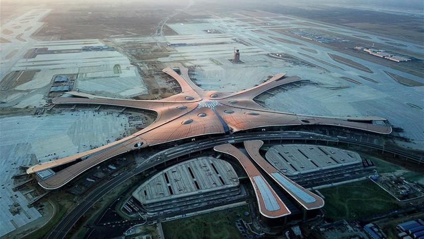 """空中瞰北京大兴国际机场""""成长"""""""