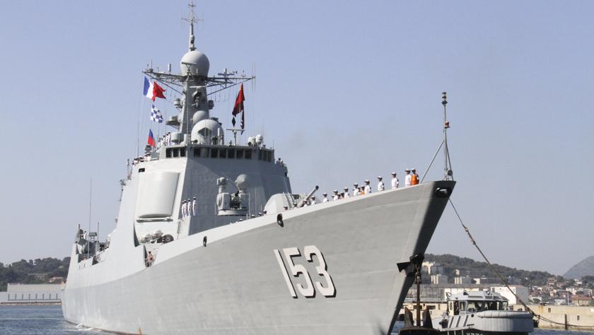 中国海军军舰到访法国土伦军港