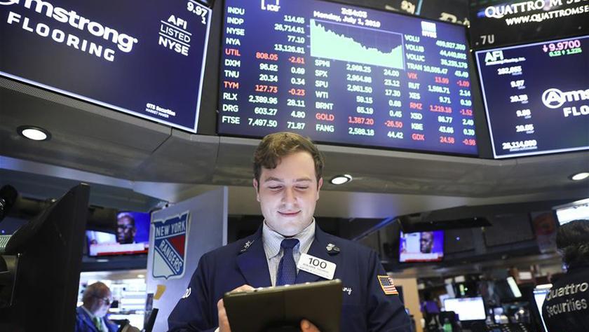 纽约股市三大股指1日上涨