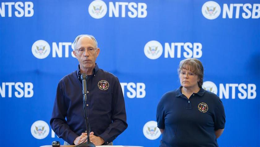 美国国家运输安全委员会介绍坠机调查情况