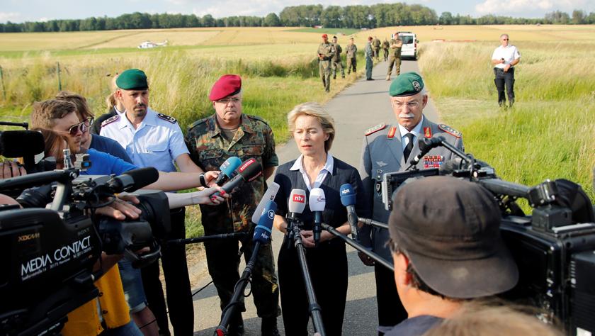 德国一架军用直升机坠毁一死一伤