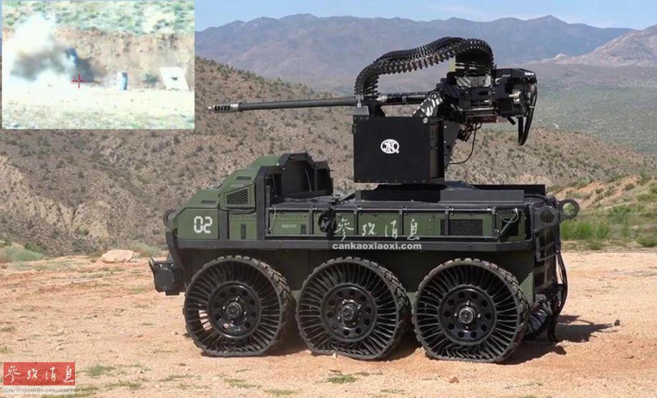 """近日,美海军陆战队在亚利桑那州测试了名为""""猎人狼""""(Hunter Wolf)的无人战车,该车搭载一门30毫米M230LF""""短管""""版链式机关炮,进行了速射实弹打靶演示,结果""""6炮6中"""",颇有西部牛仔的节奏。20"""