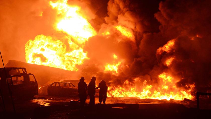 尼日利亞拉各斯發生輸油管道爆炸起火事故