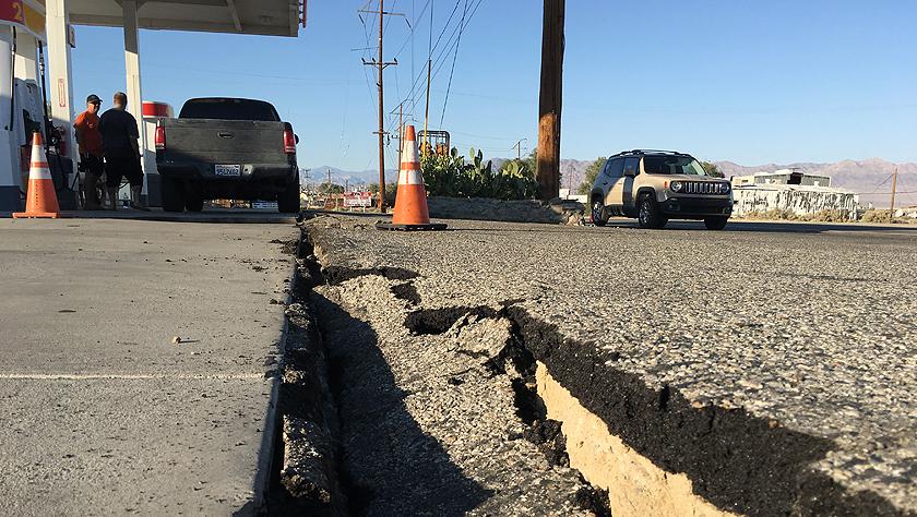 美国加州强震过后余震频繁 震中地区进入紧急状态
