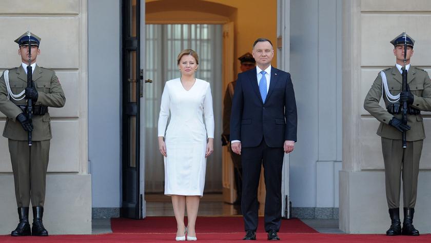 斯洛伐克总统恰普托娃到访波兰