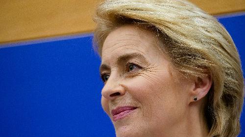 """涉险""""过关"""" 冯德莱恩正式成为首位女性欧盟委员会主席"""
