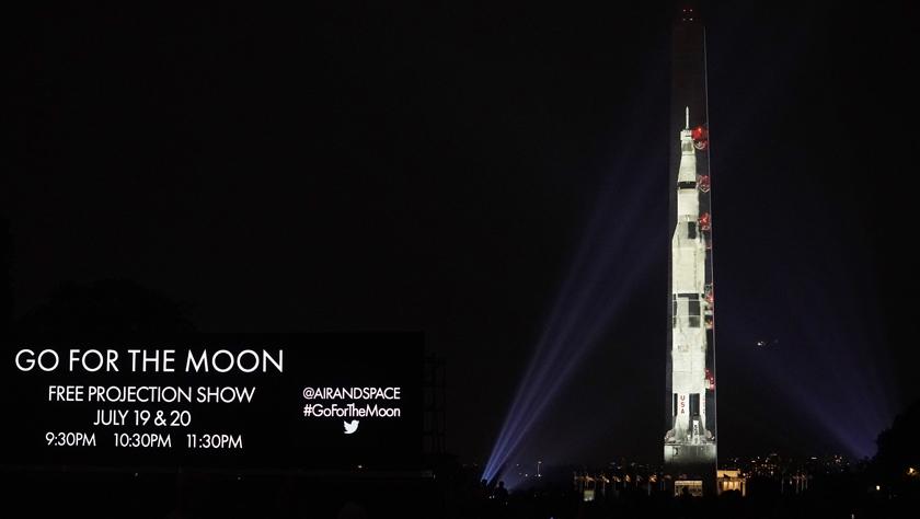 """华盛顿纪念碑""""变身""""登月火箭"""