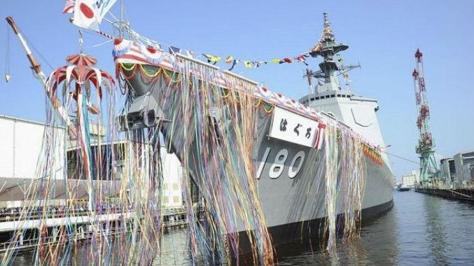 """8艘""""宙斯盾""""组舰队可与美军协同 日""""羽黑""""号驱逐舰下水"""
