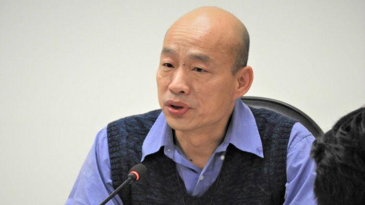 """韩国瑜获国民党提名""""出战""""2020 批蔡英文让台湾倒退"""