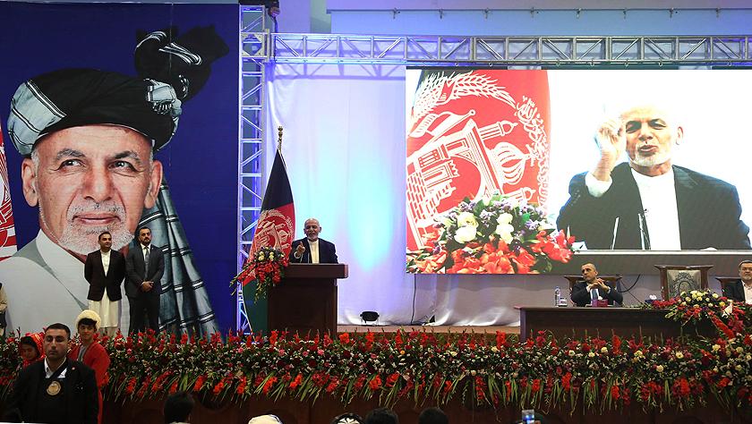 阿富汗總統加尼出席競選活動