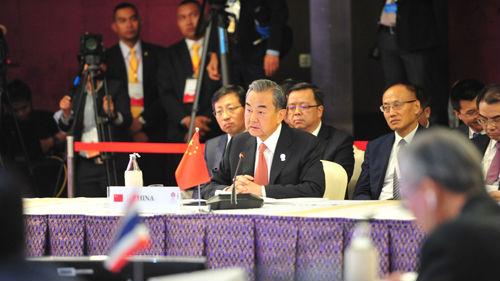 王毅出席东盟外长会议:正告域外国家勿搅局南海