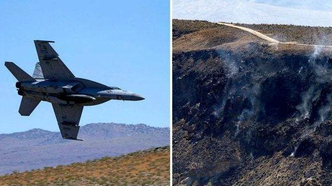 """美海军一架""""超级大黄蜂""""战机在""""中国湖""""基地附近坠毁"""