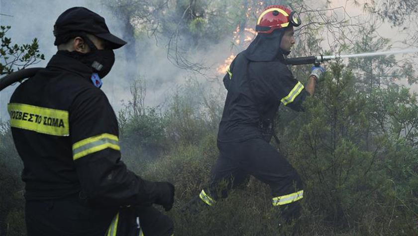 希臘埃維亞島發生火災