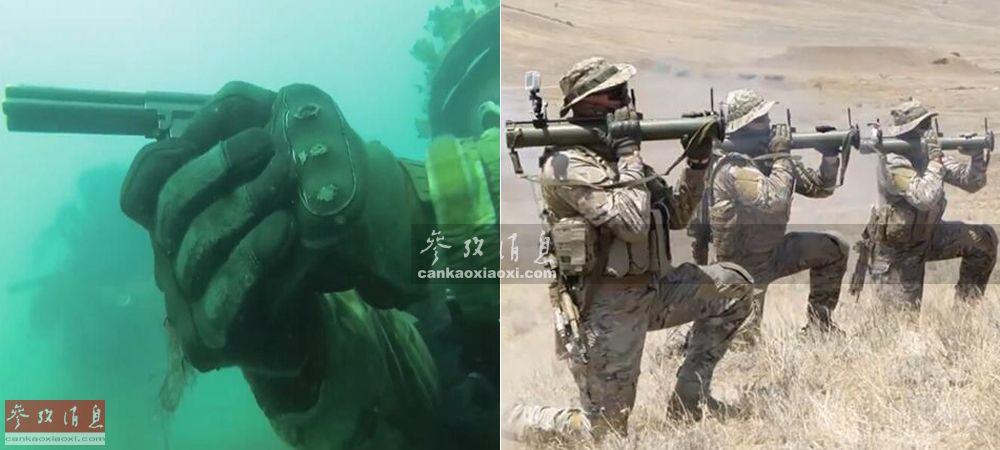 """""""阿尔法""""小组,是俄联邦安全局下辖最精锐的反恐特战部队, 于1974年7月(苏联时期)成立,至今已有45年历史,目前该部队仍活跃在俄国内以及世界范围内的各大热点地区。近日,俄媒记者有幸前往探访这支部队采访,观摩以及体验了包括蛙人水下打靶、重火力伏击敌军车队以及直升机机降等特种作战内容。图为""""阿尔法""""水下手枪打靶及RPG火箭筒打靶。14"""