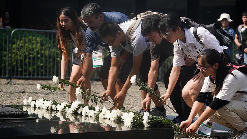 南京举行GA电子游戏和平集会纪念抗战胜利74周年