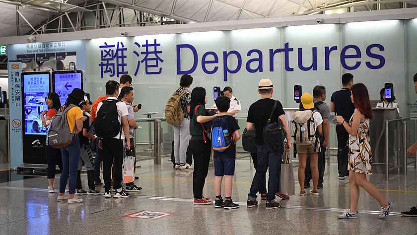 禁制令后香港國際機場見聞
