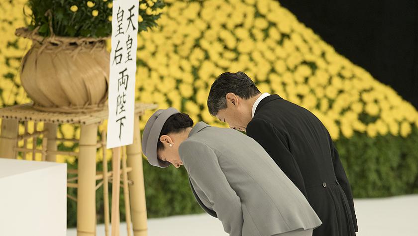 """日本德仁天皇在""""8·15""""戰敗日表示深刻反省"""