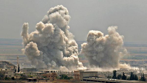 俄空军对反政府武装据点发动空袭(叙利亚政府网站)