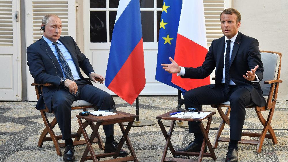 """俄法总统就抗议问题唇枪舌剑 普京坚拒""""黄背心""""在俄上演"""
