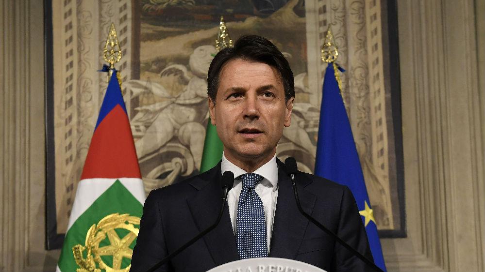 外媒:意大利总理孔特辞职 引发政治危机