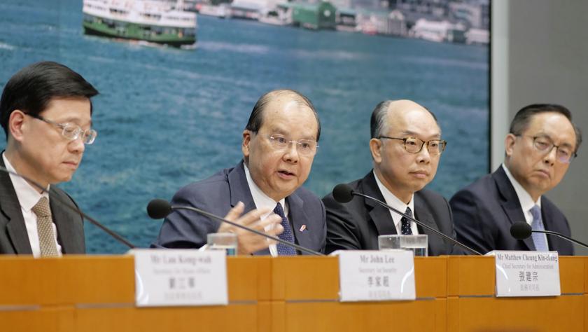 香港特区政府多部门:暴力行径无法无天 支持警队严正果断执法