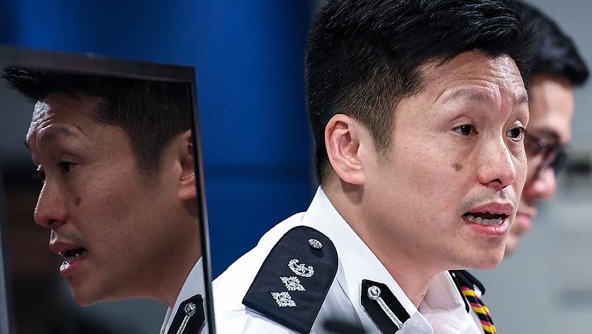 香港警方:激进示威者暴力不断升级 警方将坚持严正执法