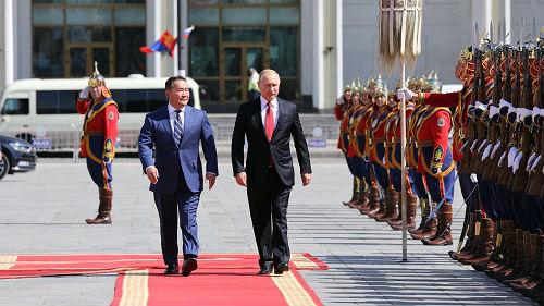 普京访蒙巩固两国友好关系 外媒:欲将蒙拉入己方阵营