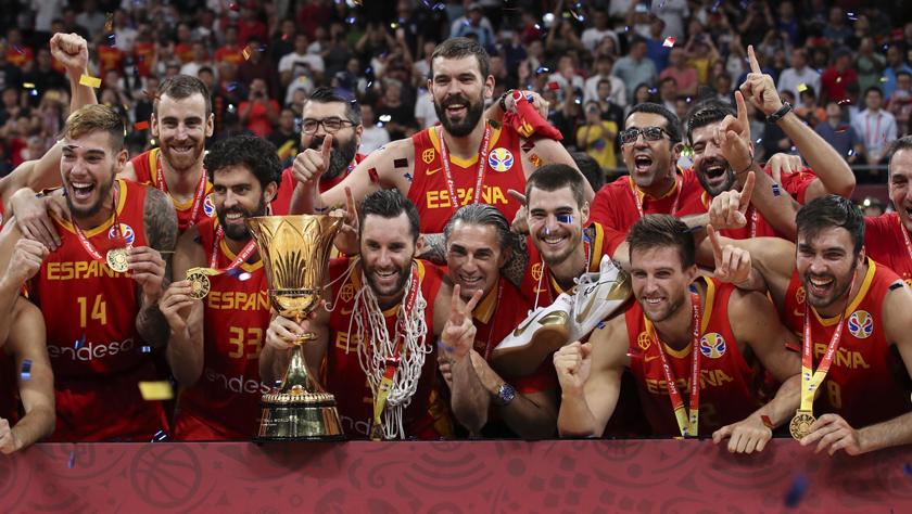 篮球世界杯——西班牙队夺冠