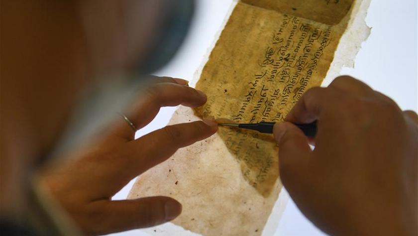西藏修复3000余页珍贵濒危古籍文献