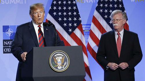 美媒披露博尔顿离职幕后细节 反对解除对伊朗制裁是导火索