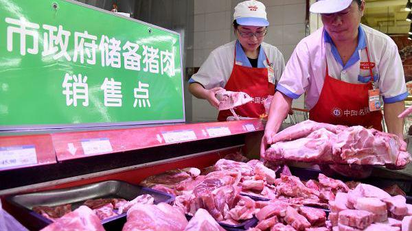外媒关注中国投放万吨储备肉平抑猪肉价格