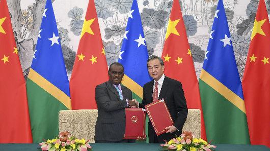 中国与所罗门群岛正式建交 外媒称台当局日益陷入孤立