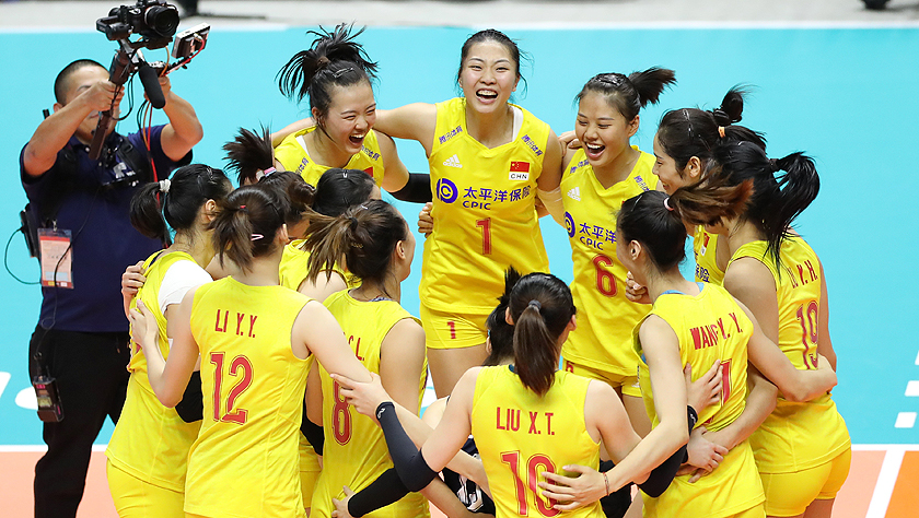 女排世界杯:中國隊戰勝美國隊