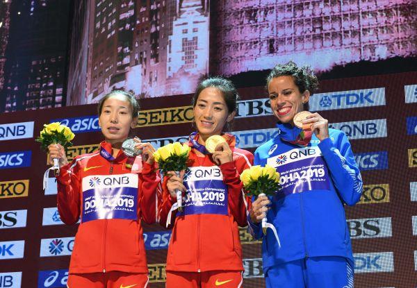 <b>中国竞走女将多哈世锦赛摘金 美国小将科尔曼男子100米夺冠</b>