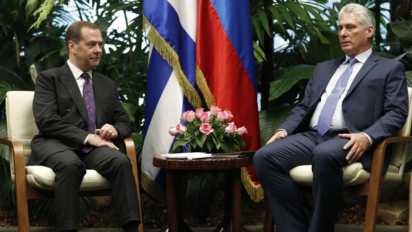 俄罗斯总理梅德韦杰夫访问古巴
