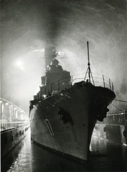 资料图:穆斯克海军基地中的战舰。(瑞典海军博物馆)