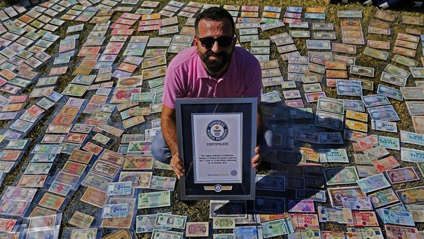黎巴嫩男子收藏纸币数创吉尼斯纪录