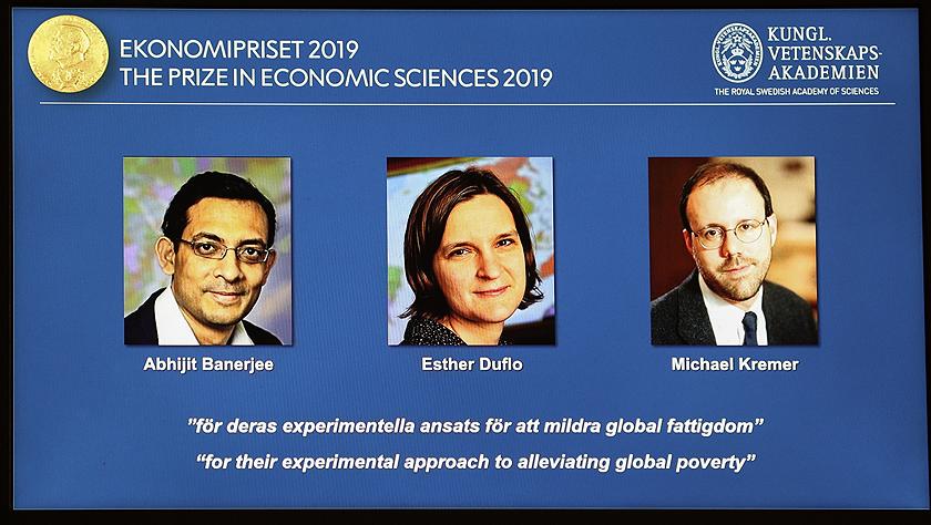 三名经济学家因减贫研究成果获2019年诺贝尔经济学奖