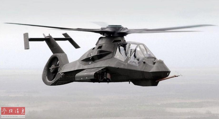 """图为已于2004年下马的RAH-66""""科曼奇""""隐身武直,由美国西科斯基直升机公司(现已并入洛-马公司旗下)与波音公司联合研发,采用了多项革命性设计。"""